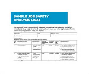 sample job safety analysis template 6 free documents in pdf