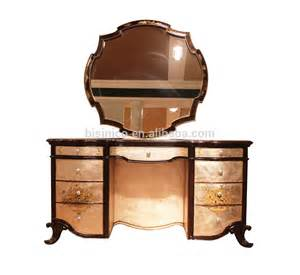 Retro Bedroom Furniture Sets Vintage Lacquer Wooden Dressing Table Antique Retro