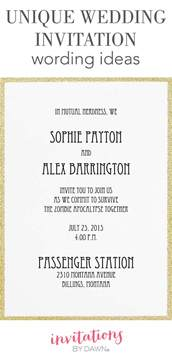 unique wedding invitation wording ideas invitations by