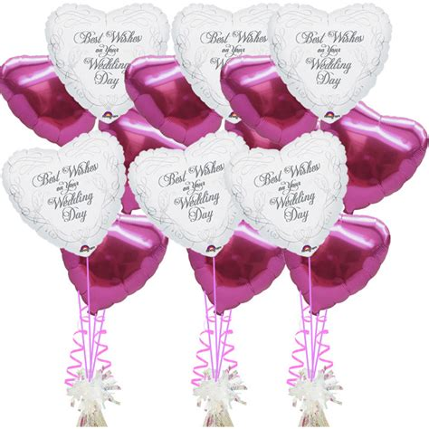Wedding Congratulations Balloons by 3 Bouquets Of 5 Helium Foil Wedding Wishes Balloons