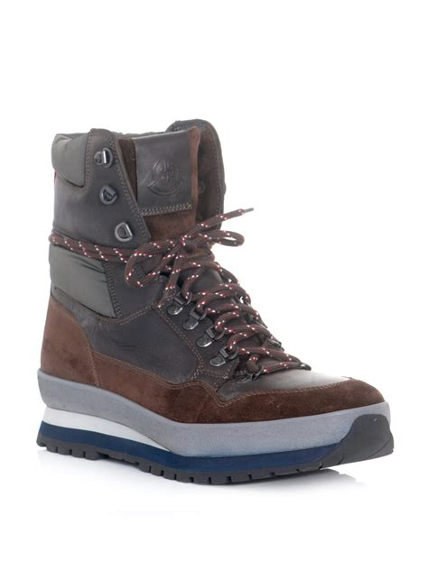 moncler hiking boots in brown for lyst