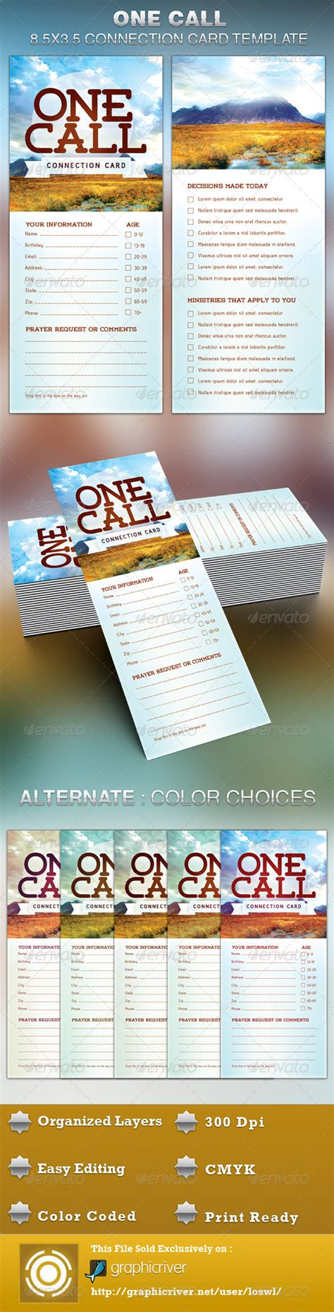 church decision card template one call church connection card template by loswl