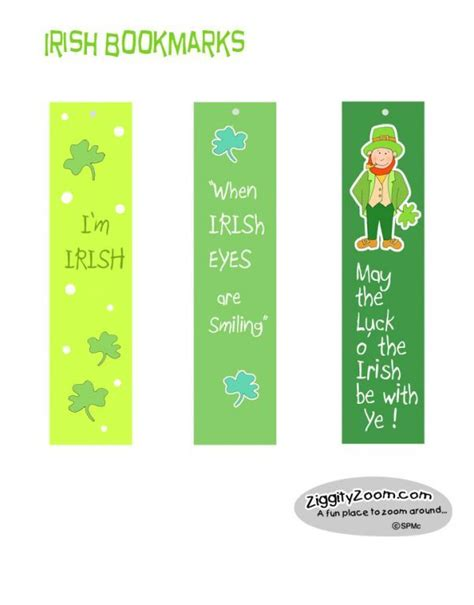 free printable irish bookmarks 17 best images about bookmarks on pinterest pop art