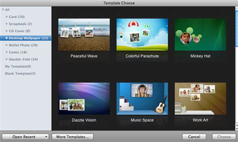 iphoto cards template photo editor for mac make greeting card scrapbook