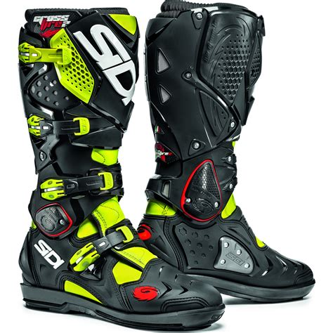 Gm Supercross Tracker Yellowfluo sidi crossfire 2 srs motocross boots dirt bike enduro moto
