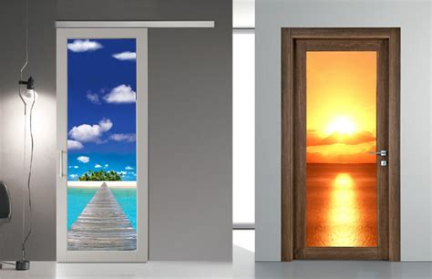 pannelli porte interne ste trompe l oeil per rivestire le porte decori per
