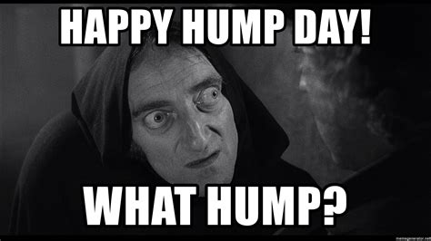 Happy Hump Day Meme - happy hump day what hump frankenstein igor meme