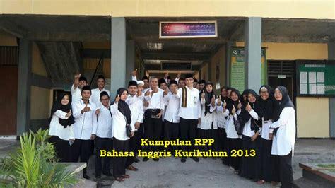 kumpulan rpp bahasa inggris kurikulum  kelas ix