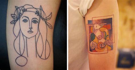 underground tattoo nyc 26 tatuajes inspirados en obras de picasso que todos sus