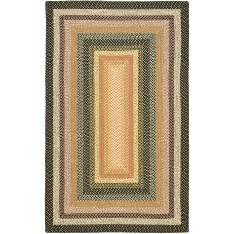 Safavieh Braided Rug safavieh braided blue multi 5 ft x 8 ft area rug brd308a 5 the home depot