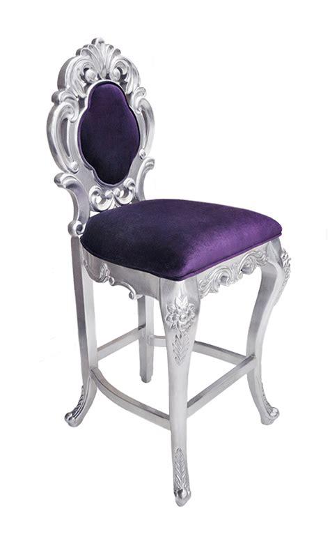 colette modern bar stool purple velvet