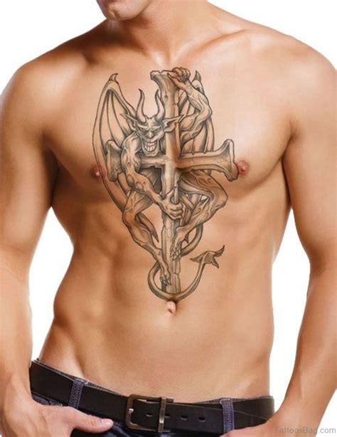 cross tattoos chest 75 stylish cross tattoos for chest