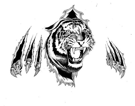 30 best cool tiger tattoo stencils images on pinterest