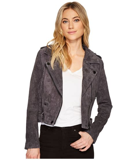 grey nyc blank nyc grey suede moto jacket in gazer at zappos