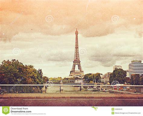 imagenes navideñas vintage retro photo with paris france vintage stock image