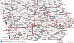 Map Of The State Of Iowa by Map Of Iowa Cities Iowa Road Map