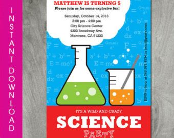 printable science party decorations science party banner instant download self editable