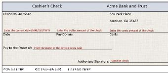 How To Write A Check 6 Steps With Pictures Wikihow Cashiers Check Template