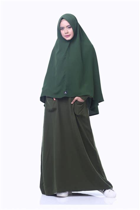 gamis fathia hijau army alsa gamis syar i fesya