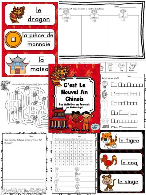 new year literacy activities nouvel an chinois new year literacy activities