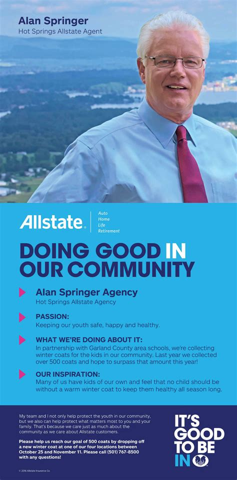 allstate car insurance  hot springs ar alan springer