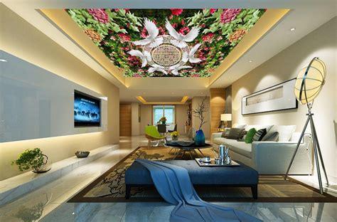 flower roof ceiling gharexpert flower roof ceiling customized 3d wallpaper 3d ceiling wallpaper murals 3 d hd
