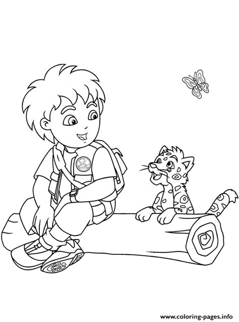 diego coloring pages diego and jaguar se7ef coloring pages printable