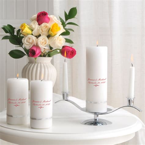 Wedding Blessing Unity Candle Set by Personalized Deluxe Unity Candle Set 38 Designs