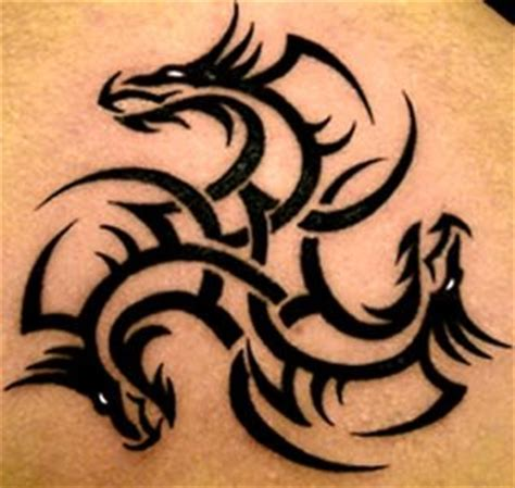 tribal dragon tattoo 1