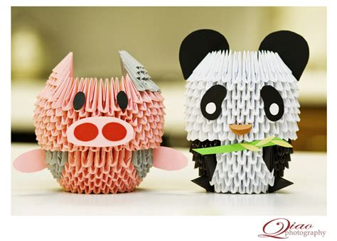 How To Make A 3d Origami Panda - 3d origami animal crossing community
