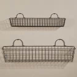 Wall Storage With Baskets Set Of Large Wire Baskets Sturbridge Yankee Workshop