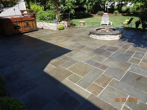 Patio Designs Naperville Blue Patio With Sealant With Cut Fondulac Stack