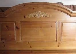 broyhill fontana pine bed frame headboard footboard