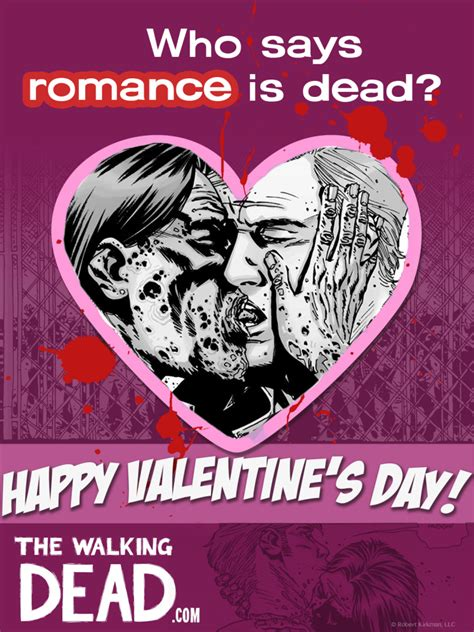 happy valentines day walking dead show your you care and scare with a the walking