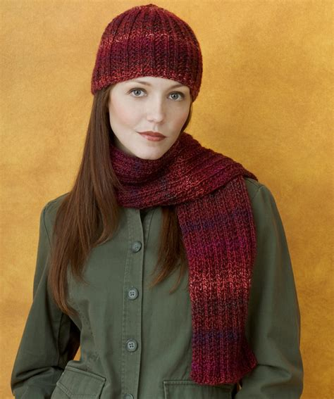 knitting patterns scarves hats knit hat scarf strickmuster red heart
