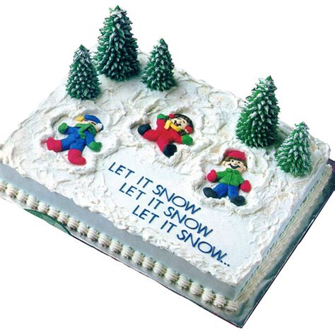 sheet cakes christmas decorated pictures snow much cake wilton