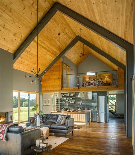 modern barn  joan heaton architects archiscene
