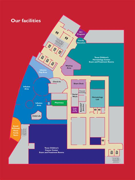 texas childrens hospital map texas children s cancer and hematology centers the lester and sue smith outpatient clinic