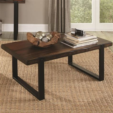coffee table with rustic look