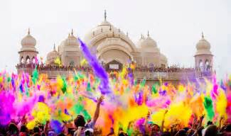 holi color festival india bored panda