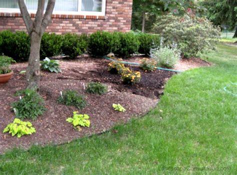 image of simple landscape design ideas backyard