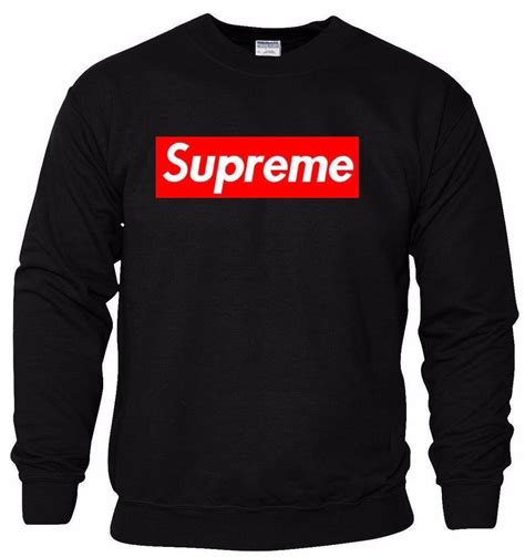 Jaket Sweater Supreme Logo Jumper supreme box logo printed unisex sweatshirt jumper top best quality ebay