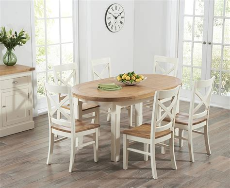 Oval Oak Dining Table And Chairs Buy Harris Cheyenne Oak And Oval Extending Dining Table With 6 Cavanaugh Chairs