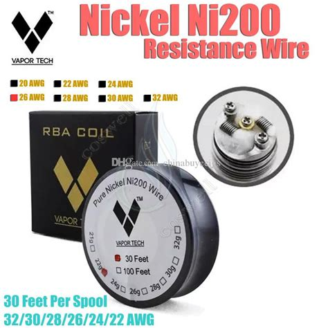 Authentic Vaportech Ss316l 28 Ga 30 Vapor Tech Ss Wire Ivs1348 authentic vapor tech ni200 nickel resistance wire 30 multi vapor temperature