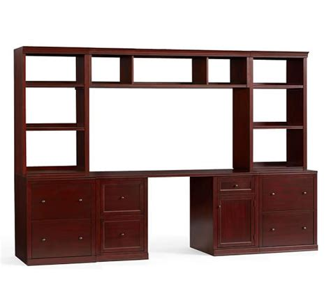 logan small office suite with file cabinets bridge