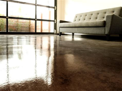concrete floor finishes color finish trial on poured how to apply an acid stain look to concrete flooring how