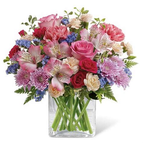 Send Birthday Flowers by Enchanted Garden Flower Bouquet At Send Flowers