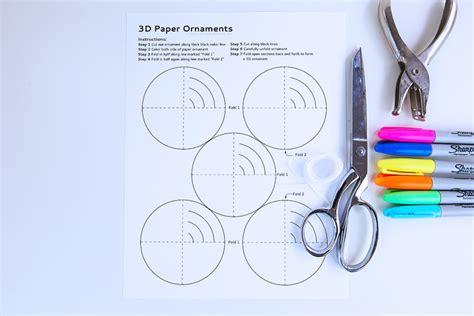 3d ornaments easy craft 3d paper ornaments babble dabble do