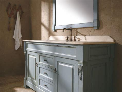 blue bathroom sink vanity 60 quot bosco single bath vanity ancient blue traditional