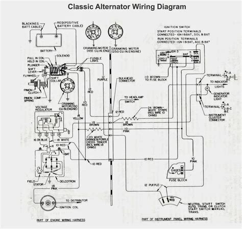 car alternator wiring diagram electrical winding